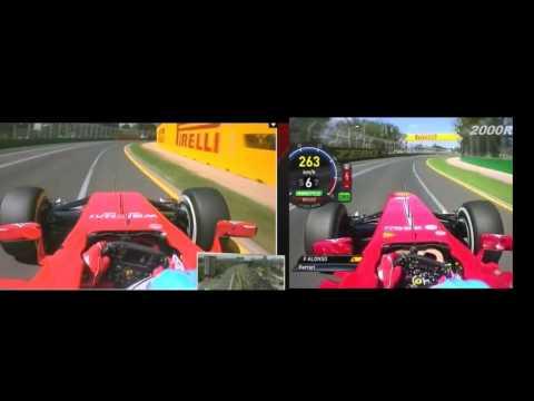 F1 2014 VS F1 2013 Fernando Alonso Onboard Melbourne Lap Comparison