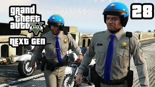 GTA 5 Next Gen Walkthrough Part 28 - Xbox One / PS4 - I FOUGHT THE LAW - Grand Theft Auto 5