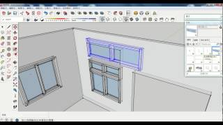 """SKETCHUP動態元件繪製窗戶 :Dynamic Components:""""Window"""""""