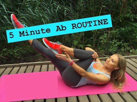 5 Min Abs Workout - At Home Abdominal and Oblique Exercise Routine