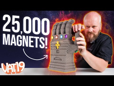 Avengers Endgame Infinity Gauntlet Made out of Magnets!