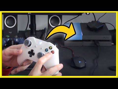 How to USE Xbox One Controller on PS4 with NO input LAG (Easy Method!)