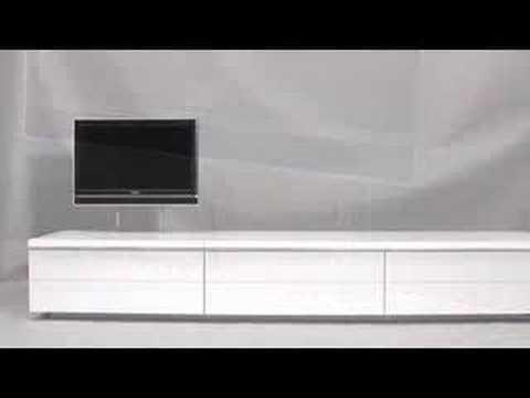 Design tv meubel met lcd tv lift, Klink & Osse B.V. - YouTube