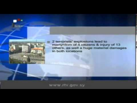 Daily Newscast of Syrian TV, the state television, Sunday 19 May 2013.
