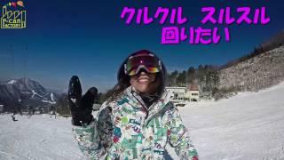 [グラトリでクルクルスルスル]地球から離れる!!キャシーさんの初滑り2!! スノーボード動画竜王シルブプレ4-8