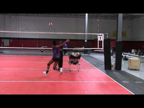 Tamara Martin, # 10, RH, Volleyball Skills Presentation, Desoto High School, Desoto Texas