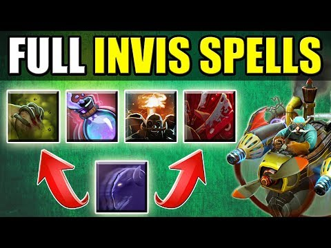 4 Invisible Spells + Riki Invis [Perfect Ganker in Dota 2] Ability Draft