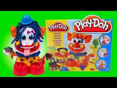 Play Doh Clown toy Playset Playdough Payaso Play-Doh Plasticine