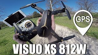 VISUO XS812 GPS Drone (Crashed, Lost, and Found!)