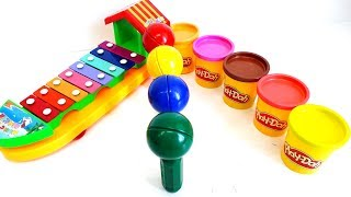 Toys for Kids Xylophone Musical Toys and Play Doh Surprise Toys Video for Kids Toy Review