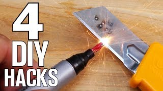 4 DIY Life Hacks - Homemade inventions