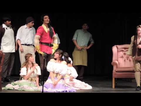 MHS Manteca High School performing Disney's Beauty and the Beast Musical Play 2014 - Gaston