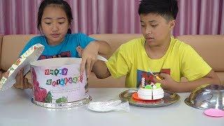 Đồ Ăn Bất Ngờ - Thách Chọn Số Kem Bánh Sinh Nhật Thật Và Giả Ice Cream and Birthday Cake Challenge
