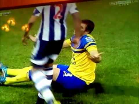 Leighton Baines Blatant Dive vs West Brom (20-1-2014)