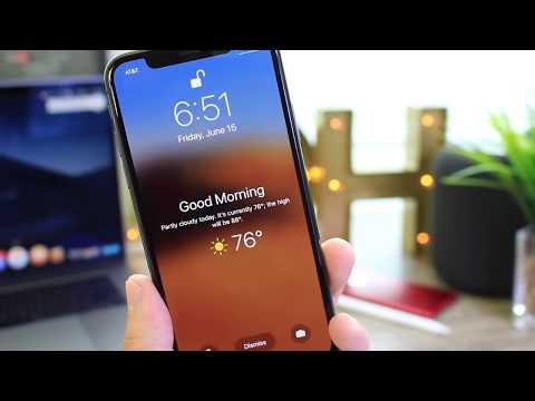 How to Enable Live Weather on LockScreen in iOS 12 (Do Not Disturb)