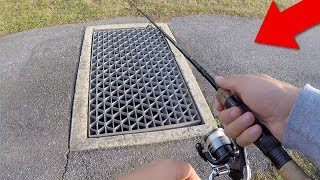 Fishing in SEWER for BIG FISH!! (Unbelievable!)