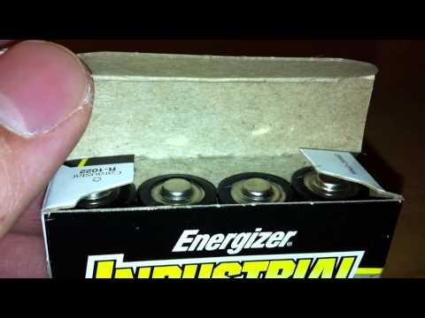 Industrial Energizer AA Alkaline Batteries Unboxing LR06DP4 EN91 AM3 MN1500