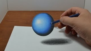 Drawing a Floating, Levitating Ball - Anamorphic Trick Art