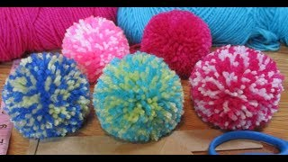 Easy way 3inch pompom making