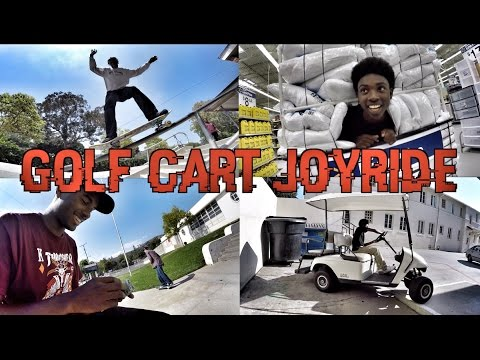 A DAY WITH THE HOMIES - SKATING, GOLF CART JOYRIDE & WALMART KICKOUT