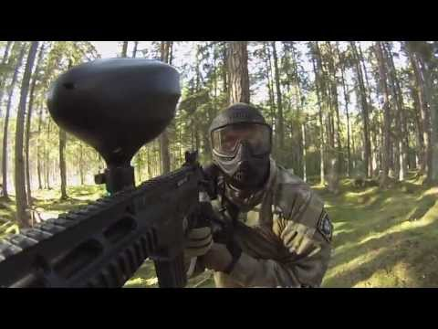 Ranchen Paintball War . GoPro Hero 3 White gun mount Tippmann 98 Sierra One / Project Salvo / GOG g1