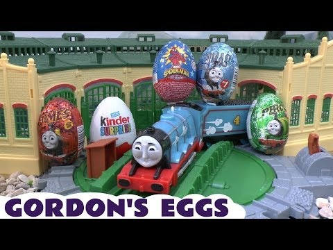 Thomas & Friends Surprise Eggs Kinder Surprise Egg Spider-man Surprise Toys Spider-man Thomas Tank video