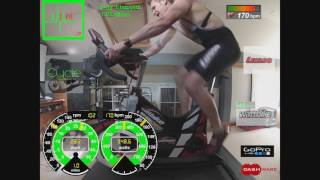 Cavve Performance Cycle Testing 3 minute aerobic Test on wattbike pro with Gopro and dashware