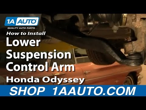 How To Install Replace Lower Suspension Control Arm Honda Odyssey 99-04 1AAuto.com