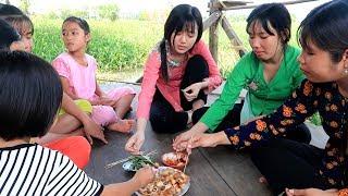 Huỳnh Như làm Trứng Cút Xào Me đãi cả nhà trước khi tiếp tục đi học | Thôn Nữ Miền Tây