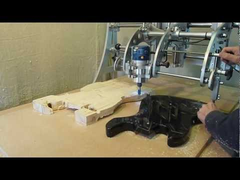 Clone 4D - Router Duplicator / Copy Carver - Guitar Body Duplicating.