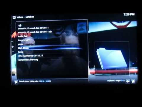 G-BOX Midnight MX2 Android XBMC Media Player Demo