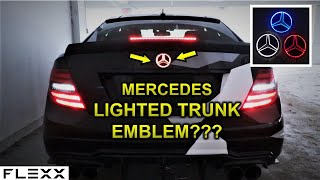 INSTALL MERCEDES LIGHT LED TRUNK STAR EMBLEM
