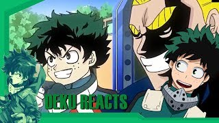 "Deku Reacts To ""Goku vs. All Might RAP BATTLE!!"" 