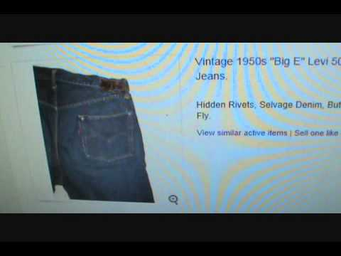 Sold on Ebay  $10,000.00 Vintage LEVI Jeans   WOW!