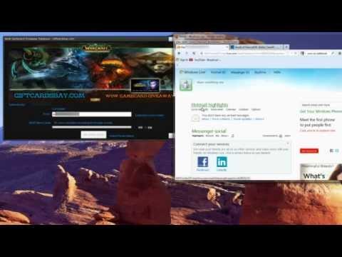 WoW GameCard Generator - Free World of Warcraft Game Time Tutorial