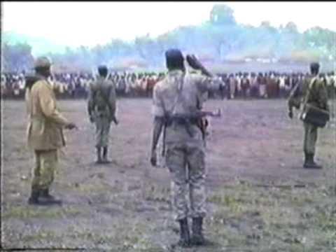 Dr. John Garang and Salva Kiir Mayardit in Longkuei