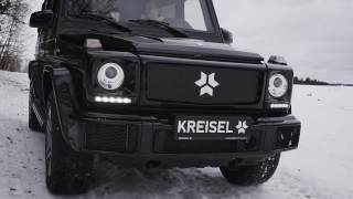 Kreisel Electric G Offroader Driving Snow Action