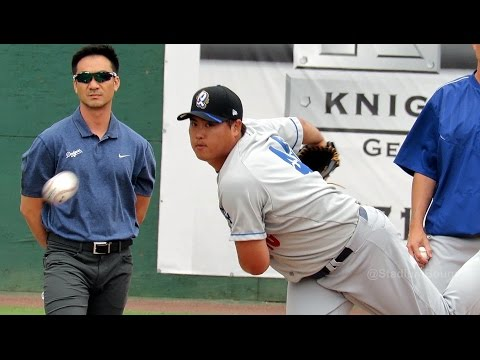 Ryu Hyun-jin 류현진 1st Rehab Game Warm-ups 2016-05-15