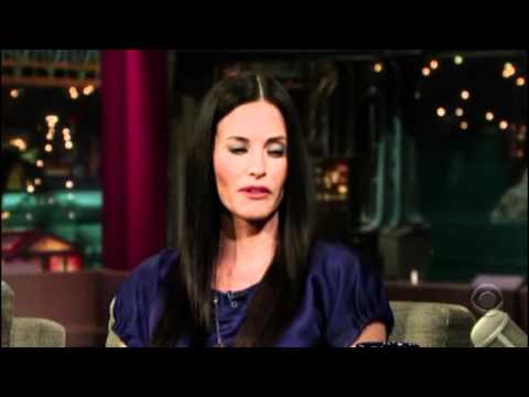 Courteney Cox on David Letterman - 26th February 2008 - Part 1