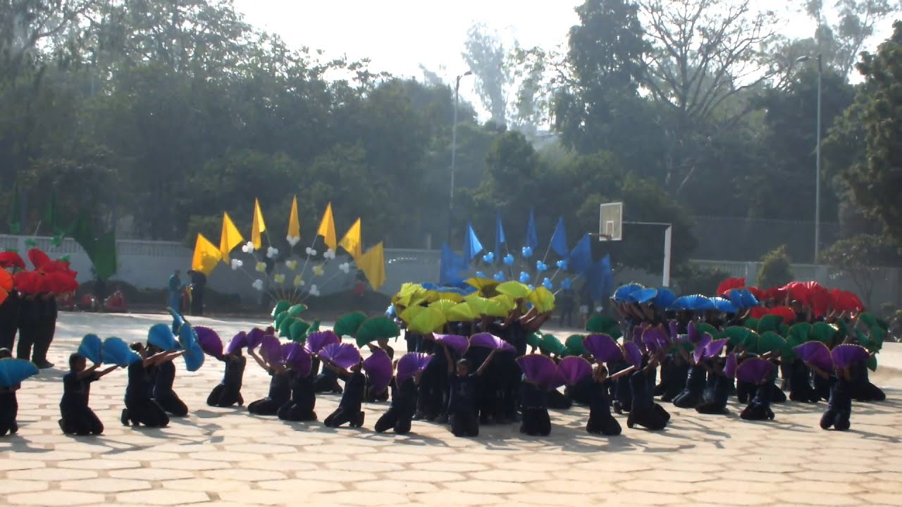 Holy Child Auxilium Sports Day Fan Drill Std Vii Youtube
