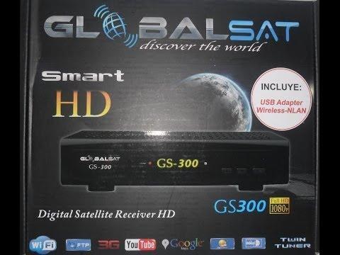 Unbox - Globalsat GS-300 smart HD