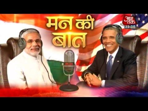 Modi, Obama's 'Mann ki Baat' at 8 pm today