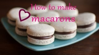 ✿ How to make MACARONS with Chocolate ganache | It