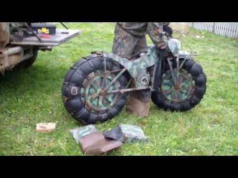 ロシアで開発された分解できる超軽量のバイク