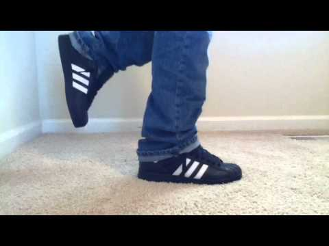Adidas Superstar 2 Black/White on feet
