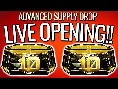 ELITES EVERYWHERE!! 26 Advanced Supply Drops Opening LIVE! + 10 Pack Giveaway (COD AW)