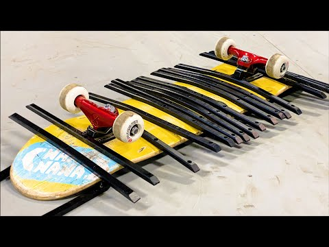 20 DECK RAILS ON 1 SKATEBOARD?!