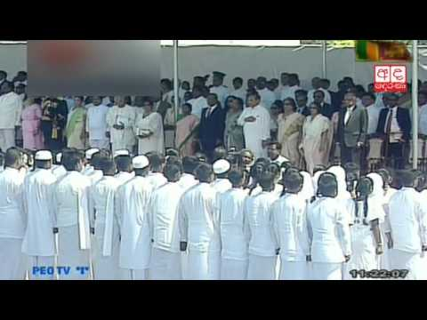 Sri Lankan National Anthem being sung in Tamil
