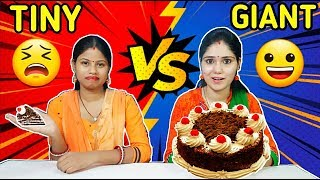 SMALL VS BIG FOOD CHALLENGE | Tiny vs Giant Food Challenge | Funny Food Challenge