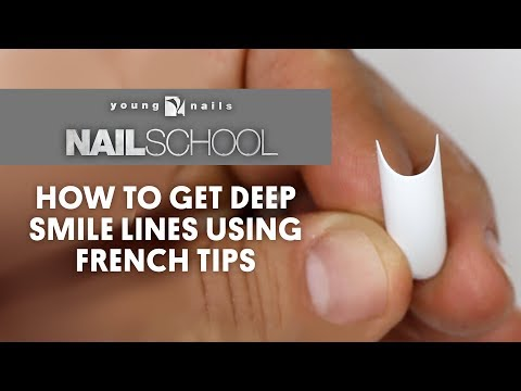 YN NAIL SCHOOL - HOW TO GET DEEP SMILE LINES USING FRENCH TIPS